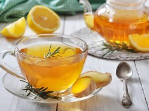Postal: Té con limón y jengibre
