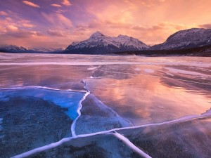 Postal: Lago congelado