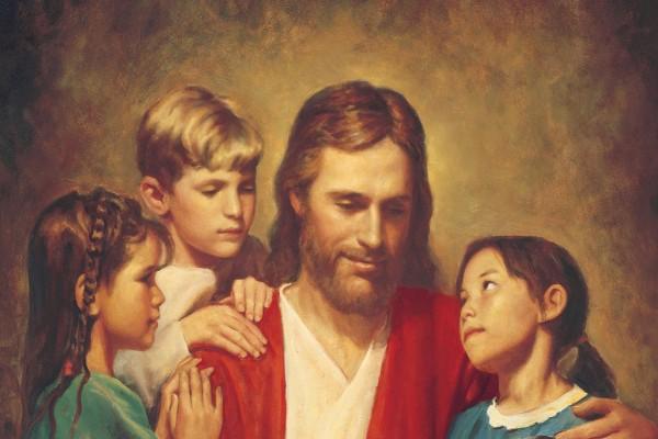 Jesucristo rodeado de niños