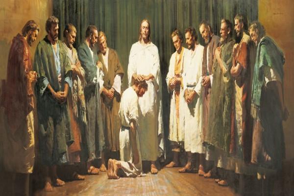 Jesucristo ordenando a los Apóstoles