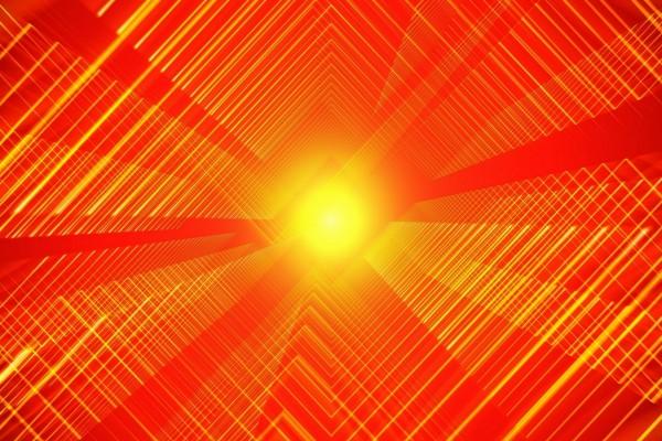 Túnel abstracto naranja