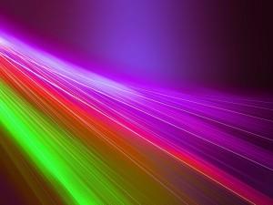 Postal: Líneas abstractas de colores