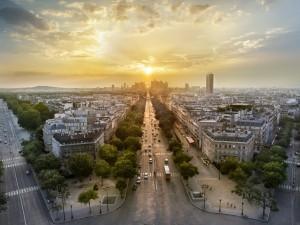 Postal: Calles de París, Francia