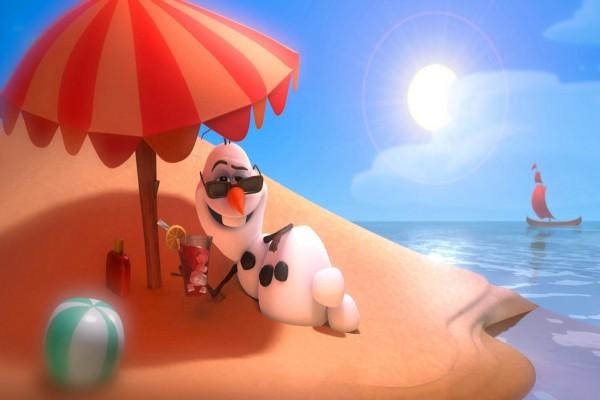 Olaf en la playa