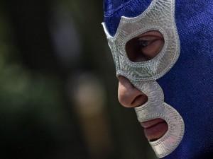 Postal: El luchador profesional Blue Demon
