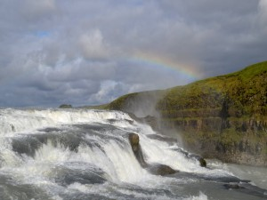 Postal: Pequeño arcoíris en el acantilado