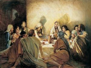 "Postal: Jesús en ""la última cena"""