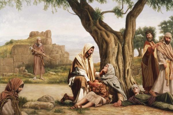 Jesús sana a los enfermos en Genesaret