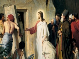 Jesucristo levanta a Lázaro de entre los muertos