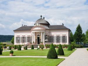 Pabellón y jardines (Abadía de Melk, Austria)
