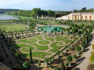 Postal: Invernadero del Palacio Versalles, Francia