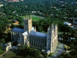 Vista aérea de la Catedral Nacional de Washington
