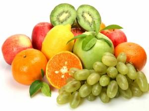 Bonitos colores de las frutas