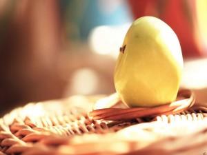 Una manzana amarilla