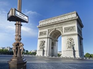 Postal: Arco de Triunfo (París, Francia)