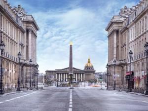 Vista de algunos edificios de París, Francia