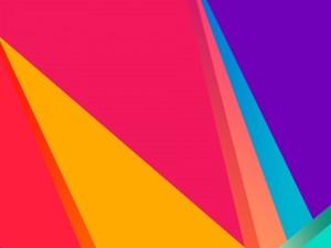 Postal: Formas abstractas de varios colores