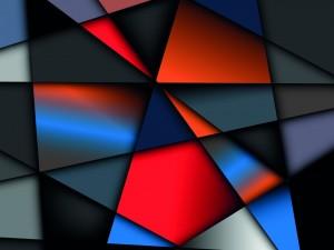 Postal: Formas geométricas de varios tamaños