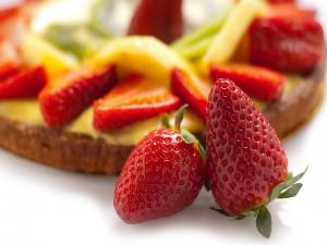 Postal: Fresas para una tarta