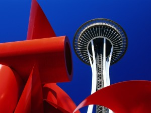 Postal: La torre Space Needle (Seattle)