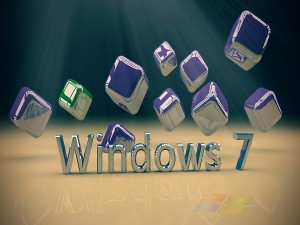 Postal: Windows 7 y cubos