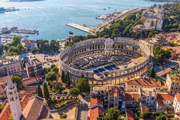 Vista de la arquitectura de Croacia
