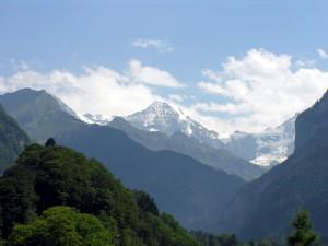 Postal: El valle de Grindelwald, Suiza
