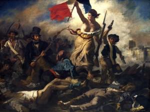 """Pintura de Eugène Delacroix """"La Libertad guiando al pueblo"""""""
