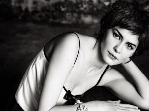 Audrey Tautou en blanco y negro