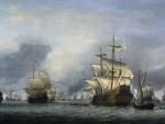 """Willem van de Velde el Joven """"Navíos tomados durante la batalla de los cuatro días"""""""