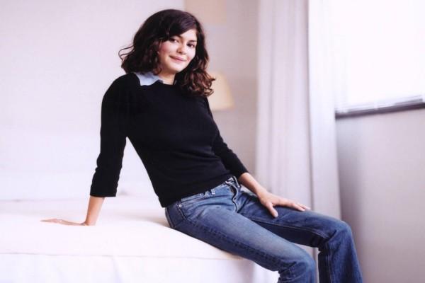 La actriz Audrey Tautou en vaqueros