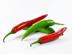 Postal: Chiles verdes y rojos