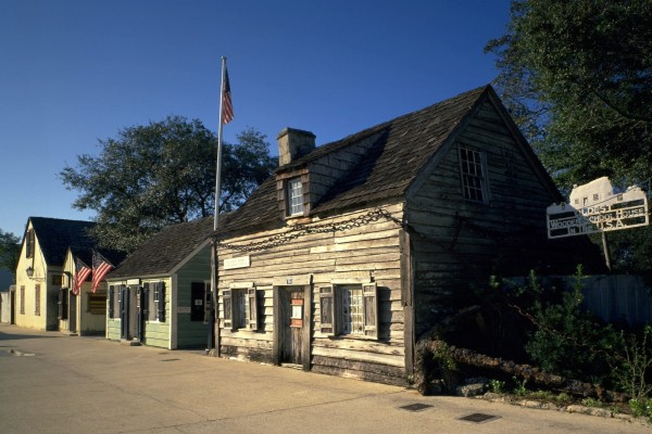 Antigua casa de la escuela Woodent en los EE.UU.