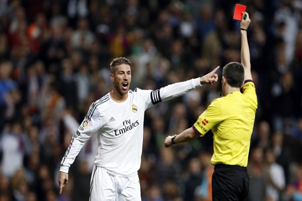 Tarjeta roja para Sergio Ramos