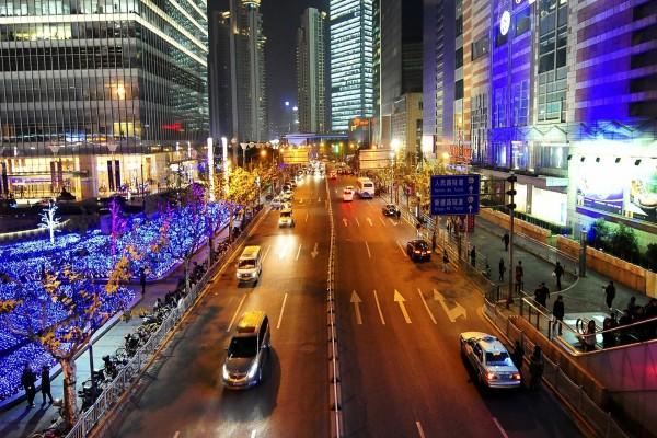 Calle en Shanghai, China