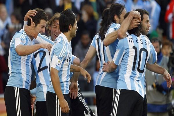 Jugadores de la Selección Argentina