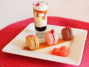 Macarons y un vasito dulce