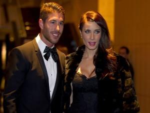 El futbolista Sergio Ramos con su pareja Pilar Rubio