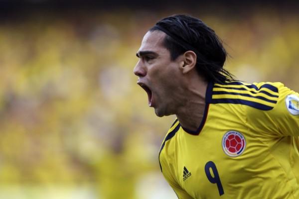 Falcao jugando con la Selección Colombiana