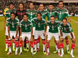 Jugadores de la Selección Mexicana antes del partido