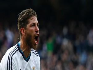 Sergio Ramos gritando en el partido