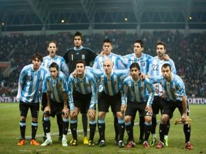 Postal: Selección Argentina de Fútbol sobre la hierba
