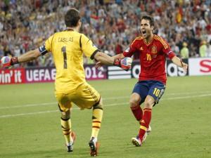 Iker Casillas y Cesc Fábregas, jugadores de la Selección Española