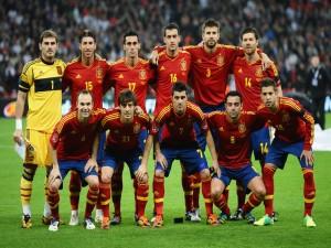 Postal: Los jugadores de la Selección Española