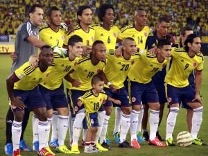 Postal: Jugadores de la Selección de Colombia posando para la foto