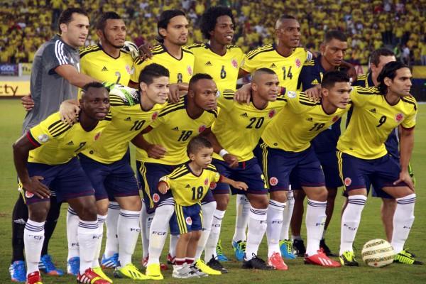 Jugadores de la Selección de Colombia posando para la foto