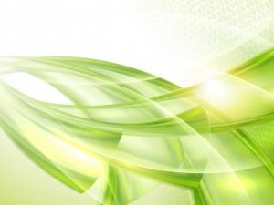 Líneas curvas de color verde