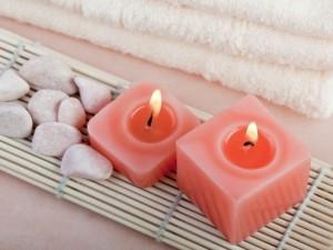 Velas y otros elementos para el spa