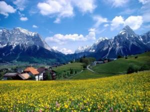 Postal: Pueblos entre las montañas
