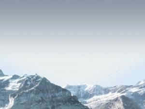 Cumbres con restos de nieve